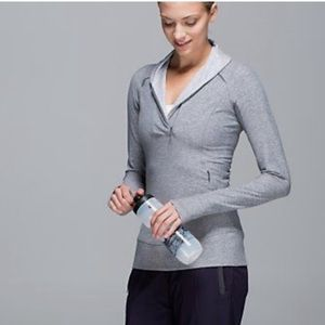 LULULEMON•Think Fast Pullover Heathered Slate Sz 4
